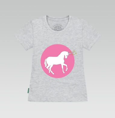 Футболка женская серый меланж - white_unicorn