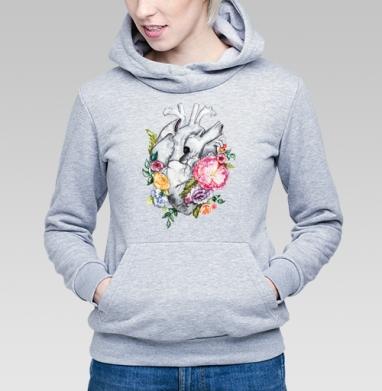 Расцветает любовь - Купить детские толстовки серые в Москве, цена детских толстовок серых с прикольными принтами - магазин дизайнерской одежды MaryJane