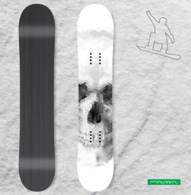 Череп 2 - Сплошные наклейки сноуборд c черепами