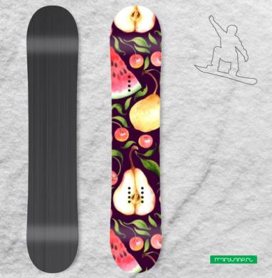 Фруктовый паттерн - Наклейки на доски - сноуборд, скейтборд, лыжи, кайтсерфинг, вэйк, серф