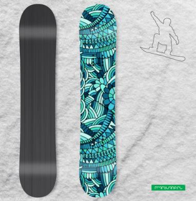 Синие волны - Наклейки на доски - сноуборд, скейтборд, лыжи, кайтсерфинг, вэйк, серф