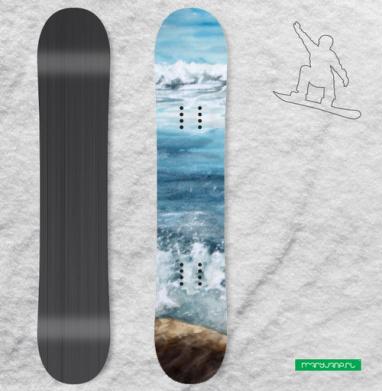 Танец пены морской - Наклейки на доски - сноуборд, скейтборд, лыжи, кайтсерфинг, вэйк, серф