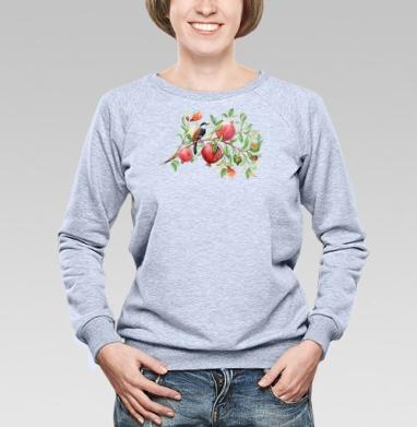 Гранатовая ветвь - Купить детские свитшоты с птицами в Москве, цена детских свитшотов с птицами  с прикольными принтами - магазин дизайнерской одежды MaryJane