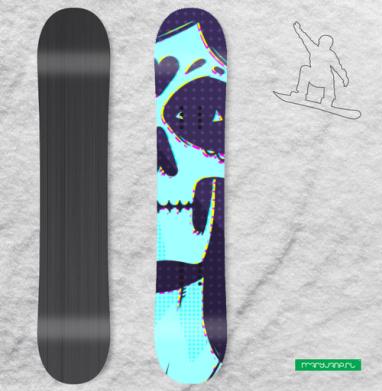 Мертвая невеста - Сплошные наклейки сноуборд c черепами