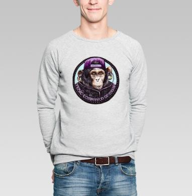 Обезьяна-меломан - Купить мужские свитшоты с акварелью в Москве, цена мужских свитшотов с акварелью  с прикольными принтами - магазин дизайнерской одежды MaryJane