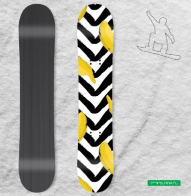Желтые бананы - Наклейки на доски - сноуборд, скейтборд, лыжи, кайтсерфинг, вэйк, серф