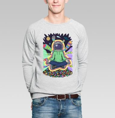 Духовный космонавт - Купить мужские свитшоты Текстуры в Москве, цена мужских свитшотов Текстуры с прикольными принтами - магазин дизайнерской одежды MaryJane