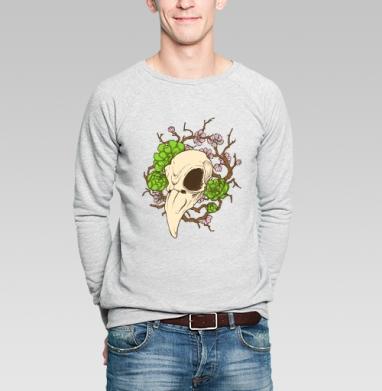Черепушка весенняя - Купить мужские свитшоты с птицами в Москве, цена мужских свитшотов с птицами  с прикольными принтами - магазин дизайнерской одежды MaryJane