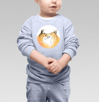 Нежность, лисы. - Купить детские свитшоты нежность в Москве, цена детских свитшотов нежность  с прикольными принтами - магазин дизайнерской одежды MaryJane