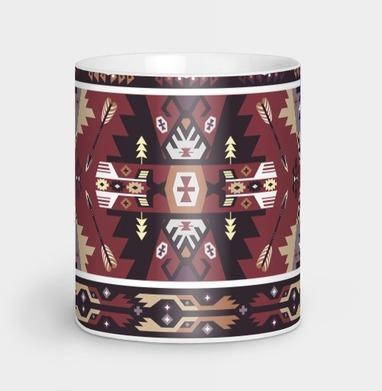 Этнический декоративный паттерн в мексиканском стиле - винтаж, Новинки