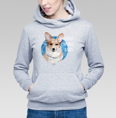 Ушастый Корги - Купить детские толстовки с собаками в Москве, цена детских толстовок с собаками  с прикольными принтами - магазин дизайнерской одежды MaryJane
