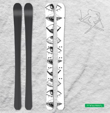 Четыре Глаза - Наклейки на лыжи