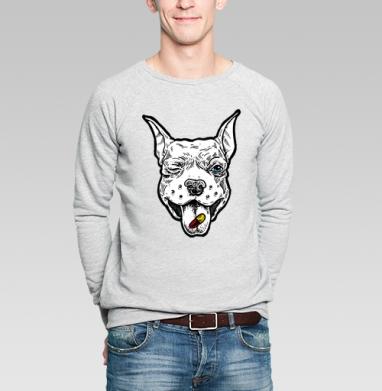 Весёлый пёс - Купить мужские свитшоты с собаками в Москве, цена мужских свитшотов с собаками  с прикольными принтами - магазин дизайнерской одежды MaryJane