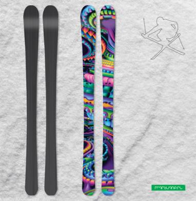 Цветовая карусель - Наклейки на лыжи