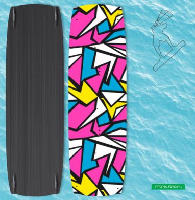 Абстрактный паттерн в стиле восьмидесятых - Наклейки на кайтсерфинг/вэйк