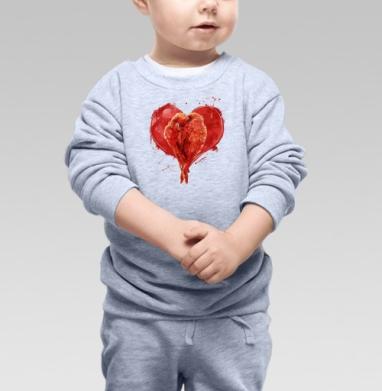 Сердце. - Купить детские свитшоты нежность в Москве, цена детских свитшотов нежность  с прикольными принтами - магазин дизайнерской одежды MaryJane
