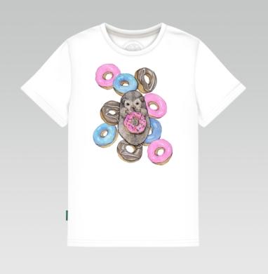 Детская футболка белая - Сладкоежка