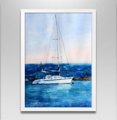 Тихая гавань - Постер в белой раме, живопись