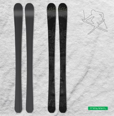 Лики Будды - Наклейки на лыжи