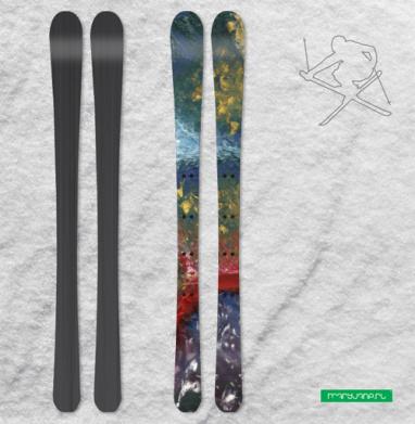 Сюрреалистическое видение космического апокалипсиса  - Наклейки на лыжи