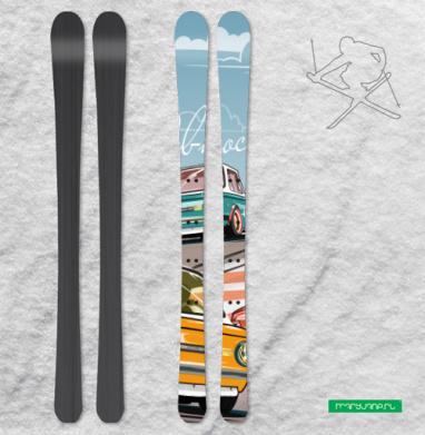 Ралли винтаж - Наклейки на лыжи