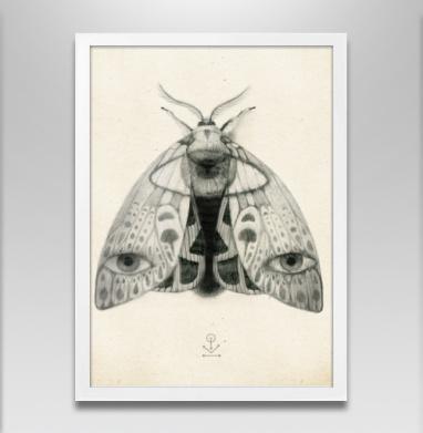 Наблюдатель №1 - Постер в белой раме, Крылья
