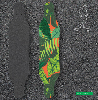 Тропический принт - Наклейки на лонгборд