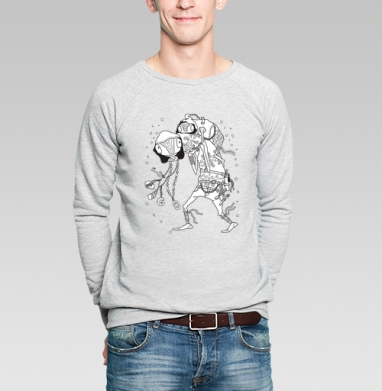 Попутчик - Купить мужские свитшоты со сказками в Москве, цена мужских свитшотов со сказками  с прикольными принтами - магазин дизайнерской одежды MaryJane
