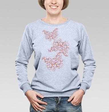 Бабочки мерцают - Купить детские свитшоты паттерн в Москве, цена детских свитшотов с паттерном  с прикольными принтами - магазин дизайнерской одежды MaryJane