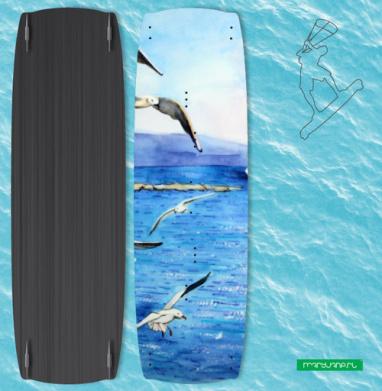 Морские чайки - Наклейки на кайтсерфинг/вэйк