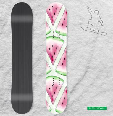 Сочный арбуз - Наклейки на доски - сноуборд, скейтборд, лыжи, кайтсерфинг, вэйк, серф