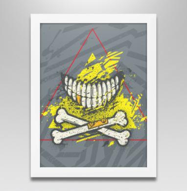Костяная улыбка (гранж версия), Постер в белой раме