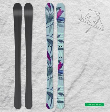 Зачарованные цветы - Наклейки на лыжи