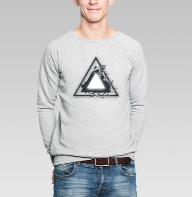 Треугольник света - Купить мужские свитшоты с геометрическим рисунком в Москве, цена мужских свитшотов с геометрическим рисунком  с прикольными принтами - магазин дизайнерской одежды MaryJane