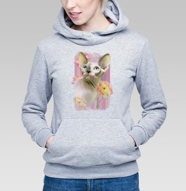 Сфинкс с розами. - Купить детские толстовки с кошками в Москве, цена детских толстовок с кошками  с прикольными принтами - магазин дизайнерской одежды MaryJane