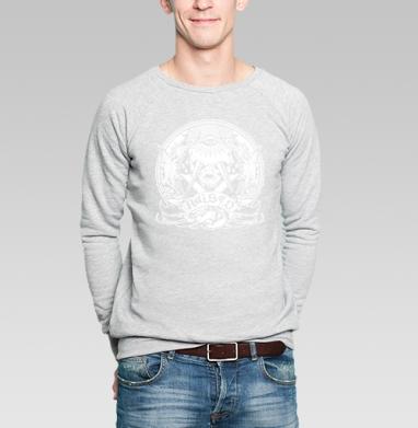 Поднятый - Купить мужские свитшоты с символами в Москве, цена мужских свитшотов с символом с прикольными принтами - магазин дизайнерской одежды MaryJane