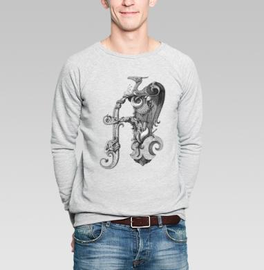 Драконобуква А - Купить мужские свитшоты Текстуры в Москве, цена мужских свитшотов Текстуры с прикольными принтами - магазин дизайнерской одежды MaryJane