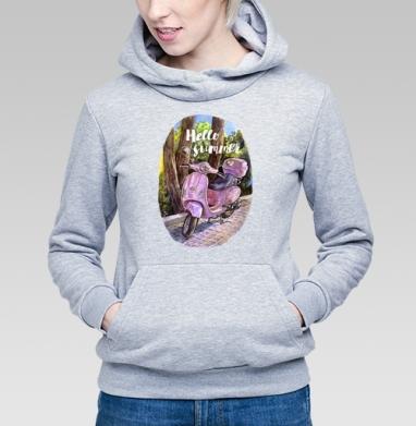 Здравствуй лето - Купить детские толстовки с мотоциклами в Москве, цена детских толстовок с мотоциклами  с прикольными принтами - магазин дизайнерской одежды MaryJane