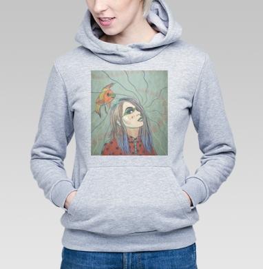 Автопортрет - Купить детские толстовки с рыбой в Москве, цена детских толстовок с рыбой  с прикольными принтами - магазин дизайнерской одежды MaryJane