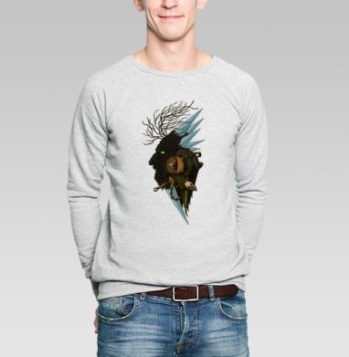 Деревянная звезда - Купить мужские свитшоты с деревьями в Москве, цена мужских  с деревьями  с прикольными принтами - магазин дизайнерской одежды MaryJane