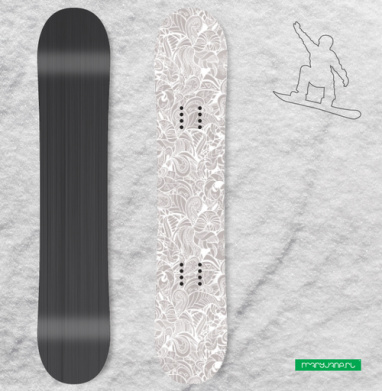 Завитки - Наклейки на доски - сноуборд, скейтборд, лыжи, кайтсерфинг, вэйк, серф