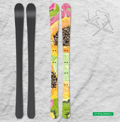 Экзотический паттерн - Наклейки на лыжи