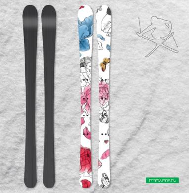 Раскрась свой мир - Наклейки на лыжи