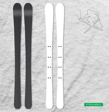 В тропиках - Наклейки на лыжи