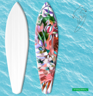 Тайна тропиков - Наклейки на серф