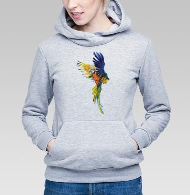 Тропический попугай - Купить женскую толстовку