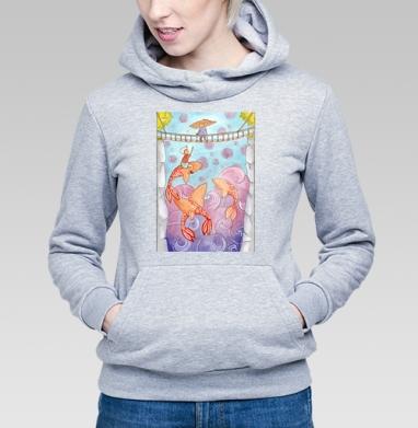 Оранжевые киты - Купить детские толстовки с акварелью в Москве, цена детских  с акварелью  с прикольными принтами - магазин дизайнерской одежды MaryJane