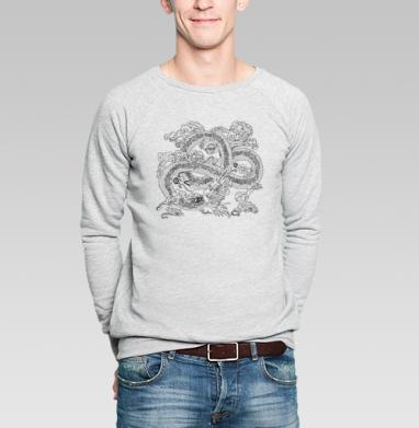 Голодный дракон - Купить мужские свитшоты с графикой в Москве, цена мужских  с графикой  с прикольными принтами - магазин дизайнерской одежды MaryJane