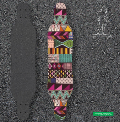 Полосатый узор - Наклейки на лонгборд