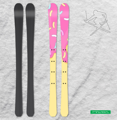 Сладкий как пончик - Наклейки на лыжи